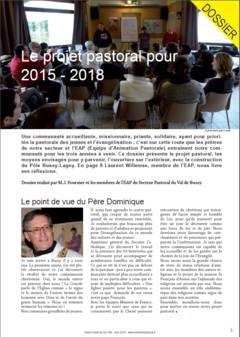 Dossier Projet pastoral 2015-2018